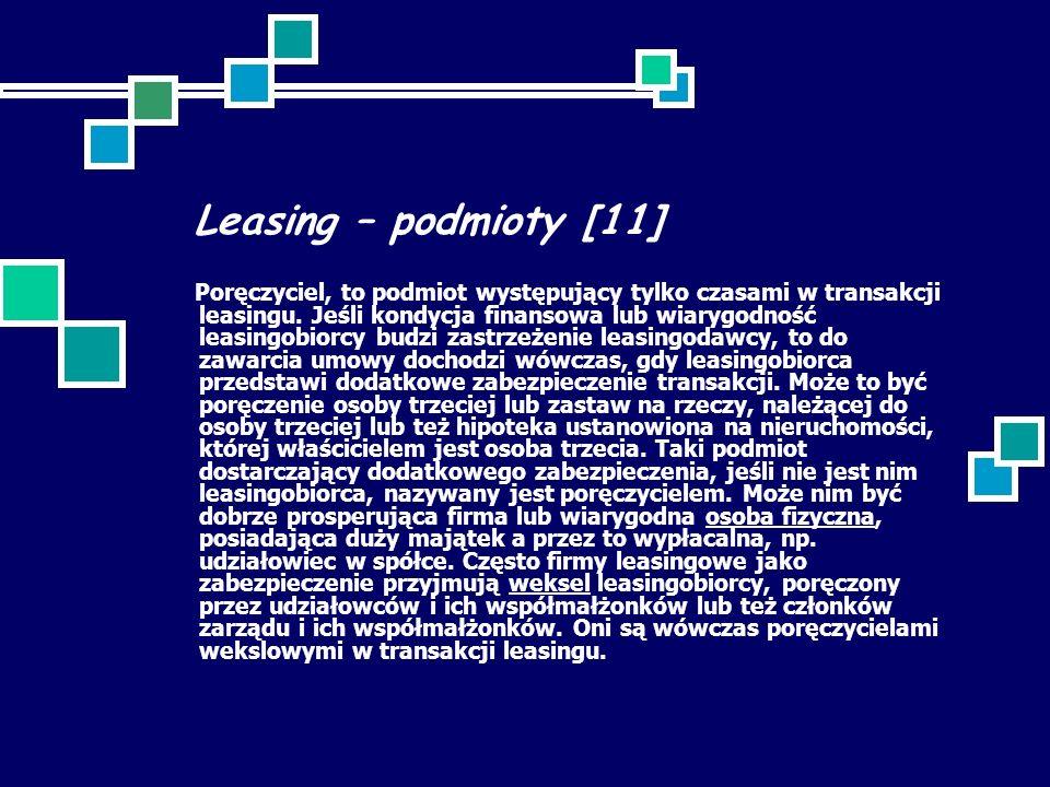Leasing – podmioty [11]